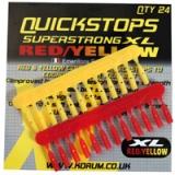 KORUM csali gyorsütköző (Quickstops) Piros/Sárga